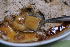 Fall Dessert Recipe -- Caramel Apple Crisp