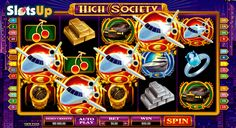 Feel the taste of luxurious life with the High Society slot game. This fantastic 5-reel, 25-payline slot belongs to the @microgaming  company and abounds in interesting features, such as Wild and Scatter symbols, free spins, wild reels and increasing multipliers. Euro signs, yachts, watches, cars, etc. are symbols of this well-designed game available on www.SlotsUp.com.