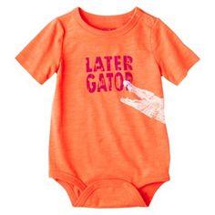 Cherokee® Newborn Boys' Short-sleeve Bodysuit - Orange