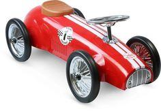 Vilac Red Racing Ride On Car #redracer #oliverthomas #vilac #vilactoys #rideoncar #racingcar #kidsroom #nursery #kidstoys #kids #vintage