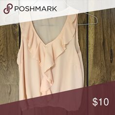 Peach blouse Sleeve less beach blouse perfect for work under a sweater. Never worn Tops Blouses