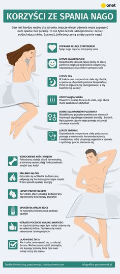 Spanie nago jest zdrowe! Dlaczego warto zrezygnować z piżamy? [INFOGRAFIKA] - Zdrowie Move Your Body, Mind Body Soul, Study Tips, Healthy Habits, Good To Know, Life Is Good, Fun Facts, Healthy Lifestyle, Life Hacks
