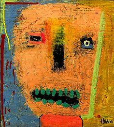 Dr Gonzo Hoke Outsider Raw Abstract Art Brut Grafitti Folk Original Painting | eBay