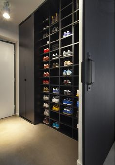 Shoe Cabinet design for a Masculine Apartment. Follow rickysturn/diy-home-decor