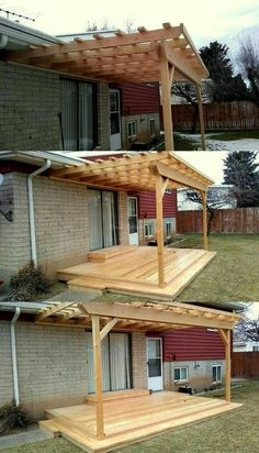 Pergola Attached To House Plans Product Pergola Patio, Pallet Pergola, Diy Patio, Pergola Plans, Diy Pallet, Backyard Patio Designs, Backyard Landscaping, Outside Patio, Backyard Makeover