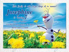 Frozen invitation Frozen personalized invitation by BogdanDesign, $7.99