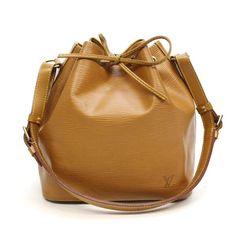 Louis Vuitton Petit Noe Epi Shoulder bags Brown Leather M44108