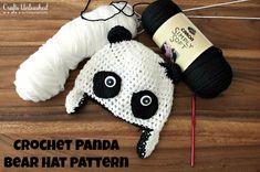 -Provocado Crochet-patrones-panda-sombrero-Crafts