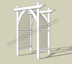 Garden Arbor DIY Plans -- archway trellis/gate for entry.Vegetable Garden Arbor DIY Plans -- archway trellis/gate for entry. Trellis Gate, Arbors Trellis, Garden Trellis, Cattle Panel Trellis, Flower Trellis, Diy Trellis, Cheap Trellis, Wisteria Trellis, Plant Trellis