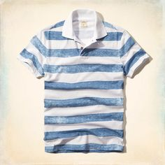 Printed Stripe Jersey Polo - Hollister  19 Listras 73c1d9573bf3e