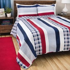 Shop for Greenland Home Fashions Nautical Stripes 3-piece Quilt Set. Get free shipping at Overstock.com - Your Online Fashion Bedding Outlet Store! Get 5% in rewards with Club O!