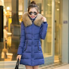 Cheap ww led, Buy Quality ww guitar directly from China ww kit Suppliers: 2015 New Winter jacket Woman's Outerwear Slim Hooded Down Jacket  female  fur collar thickening  Warm jacket  CoatUSD 47