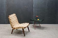 Vintage Knoll Risom Web Lounge Chair