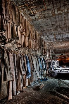 An abandoned clothing factory in Maryland. This album shot bydr_kim_veis makes me ask so many questions!