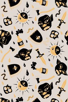 Monsters by Sil Elorduy Patterns Alexander Mcqueen Scarf, Monsters, Cards, Behance, Design, Patterns, Block Prints, Maps