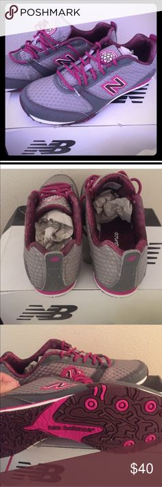 Pink and gray new balance sneakers. New in box new balance running sneakers. They are a size 7, but run more like a 6.5. New Balance Shoes Sneakers