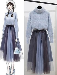 Moda Outfits, Chic Outfits, Pretty Outfits, Beautiful Outfits, Korean Fashion Casual, Ulzzang Fashion, Korea Fashion, Fashion Drawing Dresses, Fashion Illustration Dresses