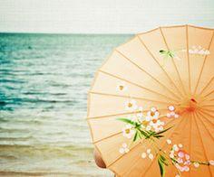 *Parasol at the beach~~~ Cute Umbrellas, Umbrellas Parasols, Eleonore Bridge, Under My Umbrella, No Rain, Previous Life, Surfing, Abstract, Seaside