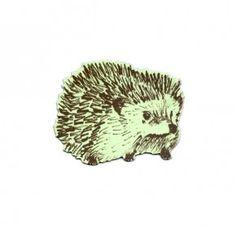 Green Junior Hedgehog Magnet