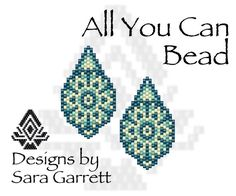 Peyote Earrings Pattern 191 Bead Weaving INSTANT DOWNLOAD PDF Odd Count by AllYouCanBead on Etsy