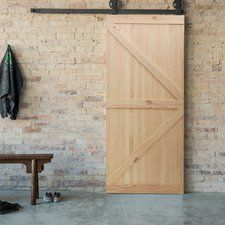 Knotty Pine Wood Unfinished Slab Door