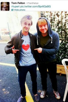 Look what Tom Felton tweeted early this morning! #tupert o-o