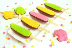 Popsicle Cookies by Lilaloa http://www.thebearfootbaker.com