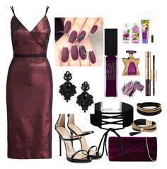 """Purple Passion"" by fashionfreakout18 ❤ liked on Polyvore featuring Cinq à Sept, Giuseppe Zanotti, Reiss, Miss Selfridge, Tasha, Simons, Vita Fede, Maybelline, Bobbi Brown Cosmetics and Bond No. 9"