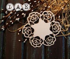 "Набор чипборда LAE ""Салфетка-Розы"" - LAE-товары для скрапбукинга оптом Flora, Wreaths, Halloween, Home Decor, Decoration Home, Door Wreaths, Room Decor, Plants, Deco Mesh Wreaths"