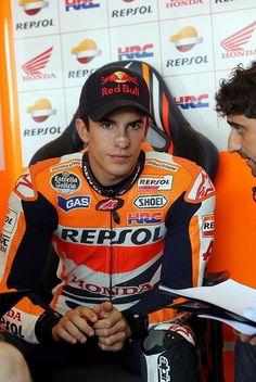 Marc Marquez: MotoGP of Germany - Free Practice  God damn he is a beautiful creature ♥♥
