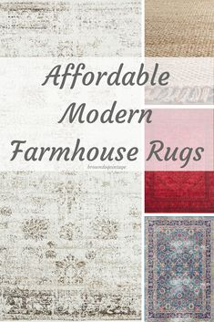 Affordable and stylish modern farmhouse rugs - natural fiber, vibrant colors, and neutral - they're all here at prices you can afford!