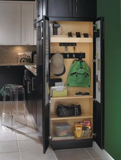 kitchens, cabinets, idea, pantri, hous, closet, drop zone, charg station, charging stations