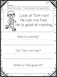 Reading Comprehension for Emergent Readers:  this set includes 65 simple passages and comprehension questions that require recall or going back to the text to find the answer.  $