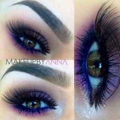 Gorgeous Purple eye makeup