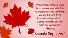 Happy Canada Day, Wishes Messages, Day Wishes, Blessed, Let It Be, Free