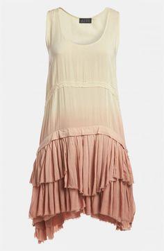 Astr Ra Ruffle Dip Dye Tank Dress   Clothing