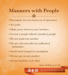 Manners #Islam