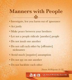 Manners #Islam