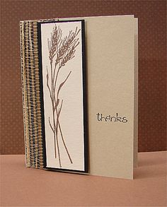 wheat silhouette thanks by donidoodle - Cards and Paper Crafts at Splitcoaststampers