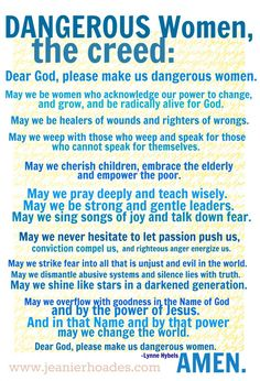Dangerous Women by Lynne Hybels (My pastors wife is changing this world.) :D