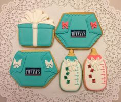 Tiffany style Baby Shower cookies by ruthiescookies on Etsy, $27.50