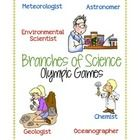 A fun Olympic style activity to do with upper elementary/middle school science classes. Groups complete challenges to earn points as they learn about different types of scientists.