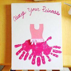 Princess Handprint Card idea....these are the BEST Hand & Footprint Ideas!