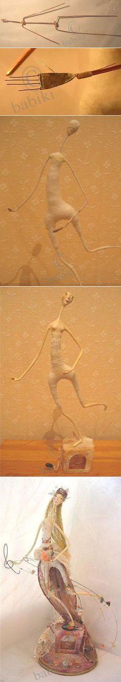 Мастер-класс - каркасная кукла своими руками