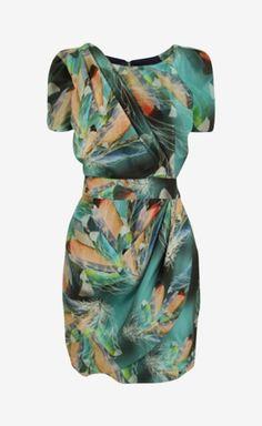 Unusual pattern dress