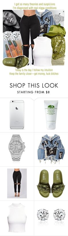 """YAH. x Kendrick Lamar"" by juicyums ❤ liked on Polyvore featuring Origins, Audemars Piguet, BLK DNM, SEN, Puma and H&M"