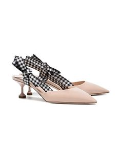 8ce484dc05d Gingham Print Heels and Pumps for Spring and Summer. Miu ...