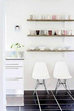 floating bookshelves by dresser - Google Search