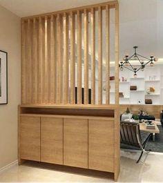 Living Room Partition Design, Living Room Divider, Room Partition Designs, Home Living Room, Living Room Decor, Wood Partition, Wood Room Divider, Home Room Design, Home Interior Design