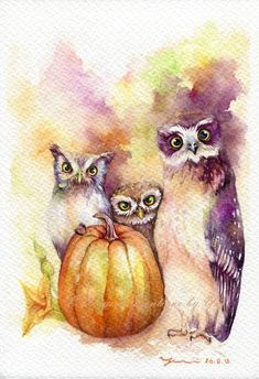 PRINT  Welcome Halloween Watercolor painting от WaysideBoutique